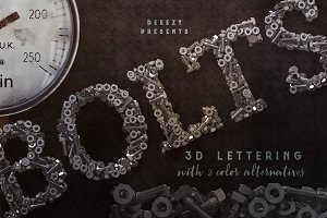 Metalic Bolts – 3D Lettering