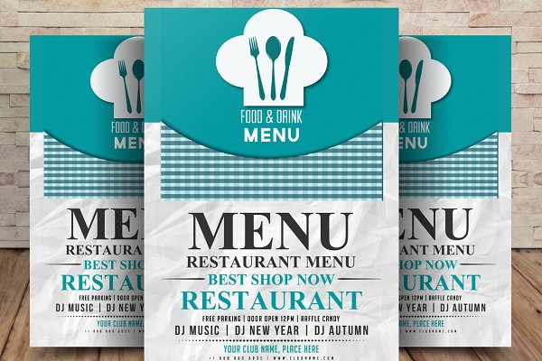 Restaurant Menu Flyer Template Creative Photoshop Templates