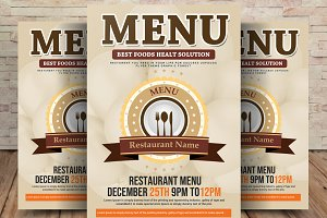 Food Menu - Restaurant Menu Flyer