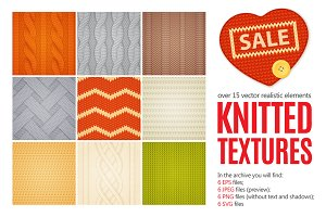 Knitted Textures Set