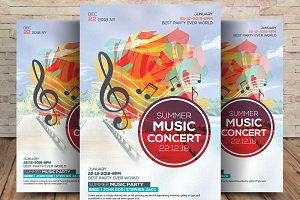 Guitar Music Concert Flyer