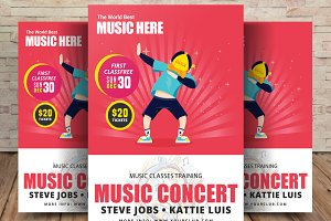Guitar Concert Flyer - Music World