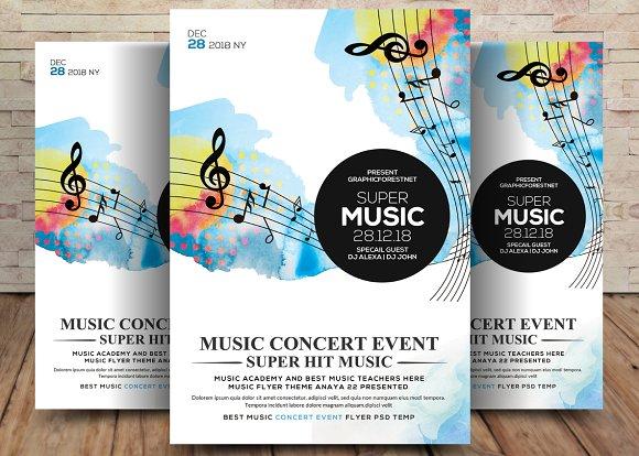 Super Music Festival Flyer Template Flyer Templates Creative Market
