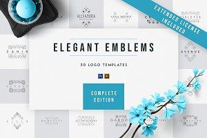 Elegant Emblems   30 Logo Templates
