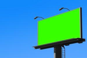 Blank billboard. 3D rendering