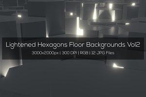 Lightened Hexagons Floor Backgrounds
