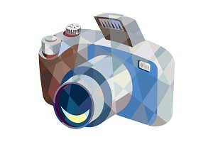 Camera DSLR Low Polygon