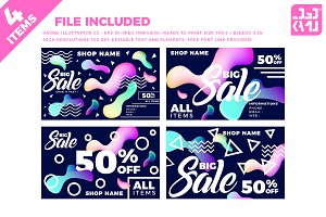 Sale Card Liquid 4 pcs
