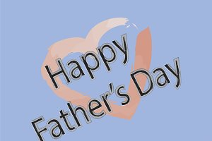 Happy Father's Day with a Heart