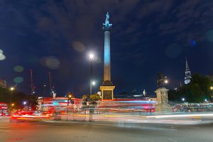 Nelson column on Trafalgar Square in