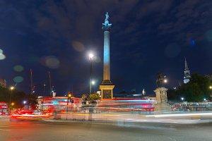 Nelson column on Trafalgar Square in