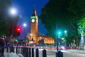 Big Ben at night London United Kingd