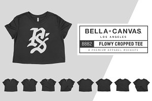 Bella Canvas 8882 Flowy Cropped Tee