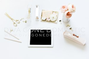 Styled Stock Image - Blush iPad Tech