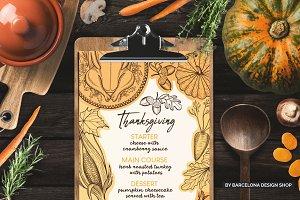 Thanksgiving Food Menu