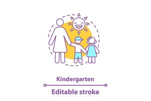 Kindergarten concept icon