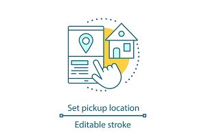 Setting pick up location icon
