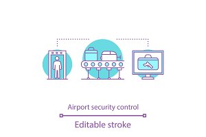 Airport security control icon