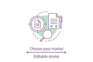Choosing market segment concept icon