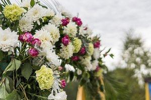 Flower as a decoration on a wedding