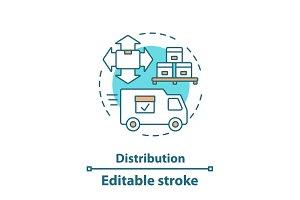 Logistics and distribution icon