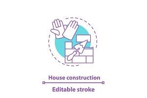 House construction concept icon
