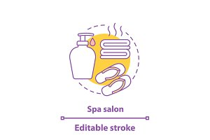 Spa salon concept icon