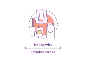 Nail service concept icon