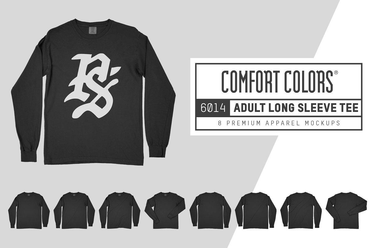 638f5cf4 Comfort Colors 6014 Long Sleeve Tee ~ Product Mockups ~ Creative Market