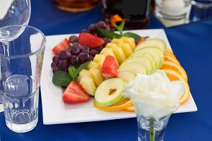 Fruit plate on a party table