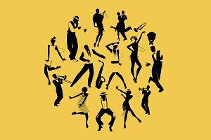 Circle of Charleston Dance