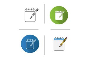 Notepad with pencil icon