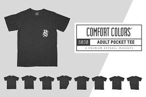 Comfort Colors 6030 Adult Pocket Tee