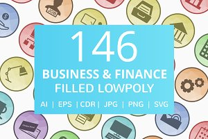 146 Business & Finance Low Poly Icon