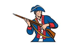 American Patriot Militia Musket Retr