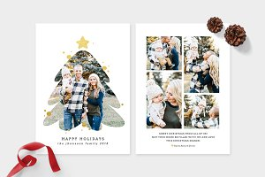 Christmas Photo Card Template -CD092