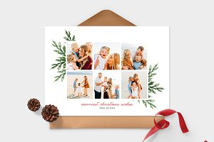 Christmas Photo Card Template -CD093