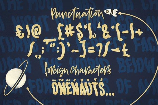 Best Handwritten Somnambulist font. Vector