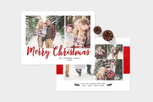 Christmas Photo Card Template -CD094