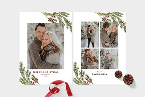 Christmas Photo Card Template -CD095