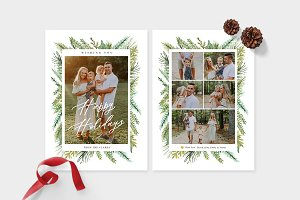 Christmas Photo Card Template -CD096