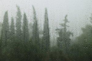 Rainy Day Raindrops Window