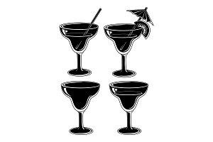 Set glasses, black pictograms