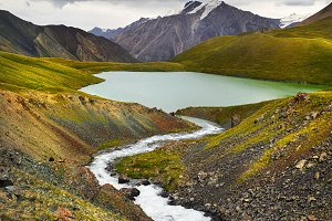 Mountain Lake in Kyrgyzstan