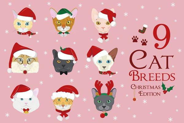 Christmas 9x Cat Breeds