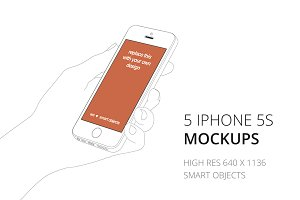 Outlined iPhone 5s mockups (5)