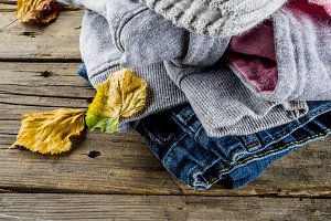 Autumn warm clothes for girl