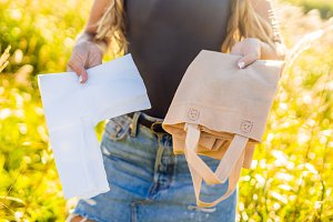 Zero waste concept Use plastic bags