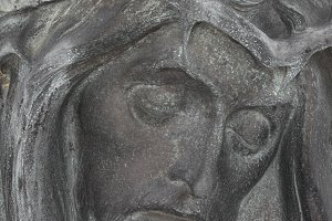 Bronze Bas-relief of Christ
