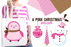 A Pink Christmas Clipart Collection